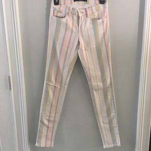 J Brand Pastel Stripe Jeans Size 25